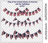 bright set with flags of usa... | Shutterstock .eps vector #1690350934