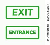 set of exit and entry signs ...   Shutterstock .eps vector #1690351084