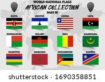 set of realistic official world ... | Shutterstock .eps vector #1690358851
