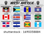 set of realistic official world ... | Shutterstock .eps vector #1690358884