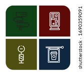 Set Of Signpost Icons. Such As...