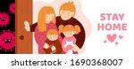 coronavirus covid 19. stay home ... | Shutterstock .eps vector #1690368007