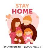 coronavirus covid 19. family... | Shutterstock .eps vector #1690370137