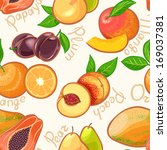 seamless background with juicy... | Shutterstock . vector #169037381
