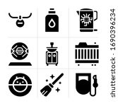 filled domestic 9 vector icons...