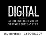 digital distortion style font ... | Shutterstock .eps vector #1690401307