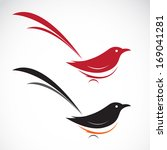Vector Of Bird Icons On White...