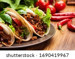 Mexican Tacos With Minced Meat  ...