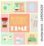 morning time | Shutterstock .eps vector #169042634