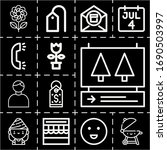 13 outline invitation icons set ... | Shutterstock . vector #1690503997