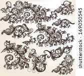 vector set of calligraphic... | Shutterstock .eps vector #169050545