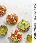Vegetarian Open Sandwiches With ...