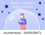 coronavirus protection poster... | Shutterstock .eps vector #1690520671
