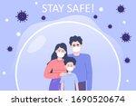 coronavirus protection poster... | Shutterstock .eps vector #1690520674