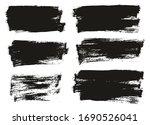 flat paint brush thin half... | Shutterstock .eps vector #1690526041