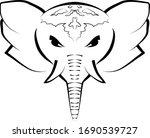 elephant animal mandala. ... | Shutterstock .eps vector #1690539727