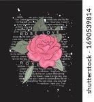 Slogan Rose Love For T Shirt...