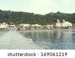 saint pierre village is located ... | Shutterstock . vector #169061219