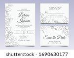 hand drawn wedding invitation... | Shutterstock .eps vector #1690630177