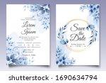 beautiful floral wedding... | Shutterstock .eps vector #1690634794
