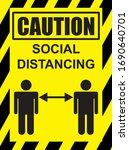 covid 19 caution health care... | Shutterstock .eps vector #1690640701
