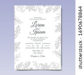 elegant hand drawn floral... | Shutterstock .eps vector #1690678864