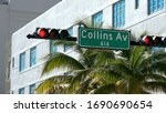 Famous Collins Ave in Art Deco district of Miami Beach