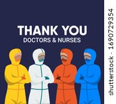 thank you doctors and nurses... | Shutterstock .eps vector #1690729354
