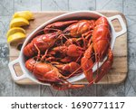 Red Boiled Crayfish With Lemon...