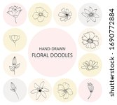 floral graphic elements big... | Shutterstock .eps vector #1690772884