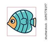 fish fill style icon design sea ... | Shutterstock .eps vector #1690778197