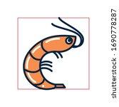 shrimp fill style icon design... | Shutterstock .eps vector #1690778287
