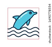dolphin fill style icon design... | Shutterstock .eps vector #1690778554