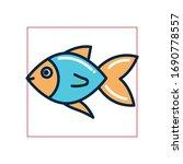 fish fill style icon design sea ... | Shutterstock .eps vector #1690778557
