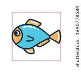 fish fill style icon design sea ... | Shutterstock .eps vector #1690778584