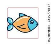 fish fill style icon design sea ... | Shutterstock .eps vector #1690778587