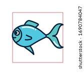 fish fill style icon design sea ... | Shutterstock .eps vector #1690784047