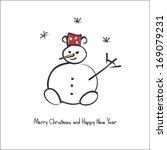 snowman | Shutterstock .eps vector #169079231