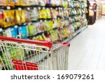 supermarket cart | Shutterstock . vector #169079261