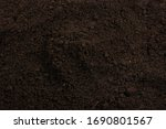 Black Land For Plant Background....
