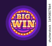 big win casino purple round... | Shutterstock .eps vector #1690807864
