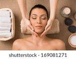 beautiful latin woman getting... | Shutterstock . vector #169081271