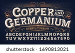 copper and germanium  quaint... | Shutterstock .eps vector #1690813021