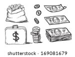 set of sketchy business icons | Shutterstock . vector #169081679