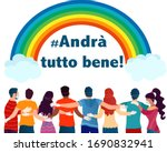 italian social campaign slogan  ... | Shutterstock .eps vector #1690832941