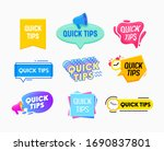 quick tips helpful tricks... | Shutterstock .eps vector #1690837801