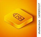 isometric line battery icon...   Shutterstock .eps vector #1690853137
