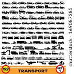 vector set. transportation... | Shutterstock .eps vector #169087385
