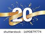 20th anniversary celebration... | Shutterstock .eps vector #1690879774
