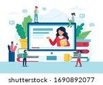 online education concept ... | Shutterstock .eps vector #1690892077